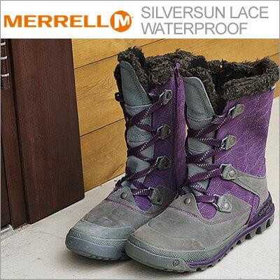 【あす楽対応】MERRELL(メレル) SILVERSUN LACE WATERPROOF(シルバーサン レース ウォータープルーフ) WILD PLUM(ワイルド プラム) [靴・スニーカー・ウィンターブーツ・シューズ・防水・防寒]