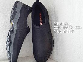 MERRELL メレル COLDPACK ICE+ MOC WATERPROOF コールドパック アイス+モック ウォータープルーフ BLACK ブラック 靴 スニーカー コンフォート シューズ 【あす楽対応】
