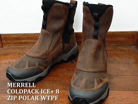メレル MERRELL コールドパック アイス+ 8 ジップ ポーラー ウォータープルーフ COLDPACK ICE+ 8 ZIP POLAR WATERPROOF クレイ CLAY 防水 ブーツ 靴 シューズ【あす楽対応】