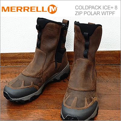 【あす楽対応】メレル MERRELL コールドパック アイス+ 8 ジップ ポーラー ウォータープルーフ COLDPACK ICE+ 8 ZIP POLAR WATERPROOF クレイ CLAY 防水 ブーツ 靴 シューズ