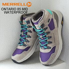 ★40%OFF★MERRELL ONTARIO 85 MID WATERPROOF メレル オンタリオ 85 ウォータープルーフ ACAI アサイー レディース ブーツ 防水 靴 シューズ