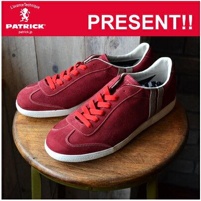 【あす楽対応】【返品無料対応】 PATRICK パトリック DEAN-GT ディーン・ゴート RED レッド 靴 スニーカー シューズ