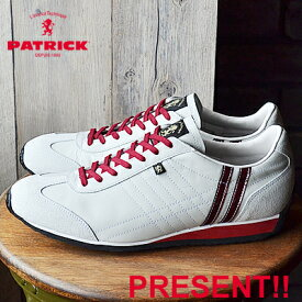 【返品無料対応】【あす楽対応】 PATRICK パトリック IRIS アイリス WH/RGE ホワイト・ルージュ 靴 スニーカー シューズ 【smtb-TD】【saitama】