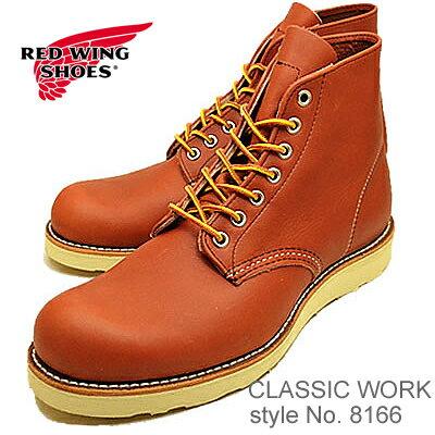 """RED WING レッドウィング 8166 CLASSIC WORK 6""""ROUND-TOE クラシックワーク 6インチ ラウンドトゥ ORO-RUSSET PORTAGE オロ ラセット ポーテージ 靴 ブーツ シューズ"""