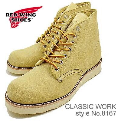 """RED WING レッドウィング 8167 CLASSIC WORK 6"""" ROUND-TOE クラシックワーク 6インチ ラウンドトゥ HAWTHORNE ABILENE ROUGHOUT ホーソーン アビレーン ラフアウト 靴 ブーツ シューズ"""