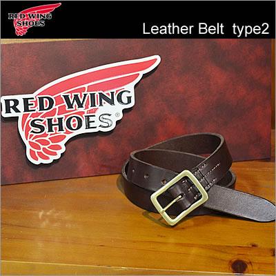 RED WING レッドウィング Heritage Belt ヘリテージベルト Leather Belt type2 レザーベルト タイプ2 【32mm幅】 Habana Brown ハバナ ブラウン USA 米国製