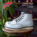 """RED WING レッドウィング 8871 CLASSIC WORK 6""""MOC-TOE クラシックワーク 6インチ モックトゥ White Leather ホワイト…"""