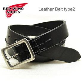 RED WING レッドウィング Heritage Belt ヘリテージベルト Leather Belt type2 レザーベルト タイプ2 【32mm幅】 Black ブラック USA 米国製