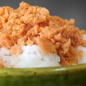 送料込 山内水産 塩引鮭(あらびき)フレーク 500g×3袋 中辛口 北海道お土産 お取り寄せ ご飯のお供 おにぎり お茶漬け