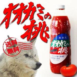 送料無料 オオカミの桃 トマトジュース 1L 6本 有塩 冷凍物との同梱不可