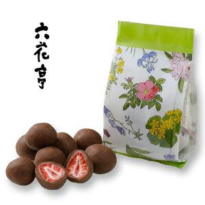 六花亭 ストロベリーチョコミルク 袋タイプ 60g北海道お土産 お取り寄せ 贈り物 ドライフルーツ チョコレート お菓子 花柄 おみやげ ろっかてい 子供 バレンタイン チョコレート 2021 プチギ