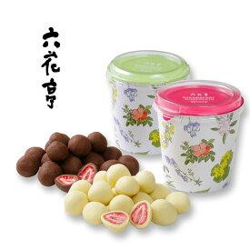 六花亭 詰め合わせ ストロベリーチョコセット130g×2個セット(ミルク・ホワイト) / 北海道お土産 お返し お取り寄せ 贈り物 花柄 かわいい いちご ドライフルーツ チョコレート