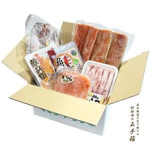 東北海道を舌で旅する 釧路海の玉手箱 6点セット 送料無料カネイチほっけ ウロコボシいくら醤油漬け70g 甘口塩たらこ 天然鮭ハラス 飲兵衛塩辛袋 鮭とろフレーク海産物 ふっこう 支援 物産