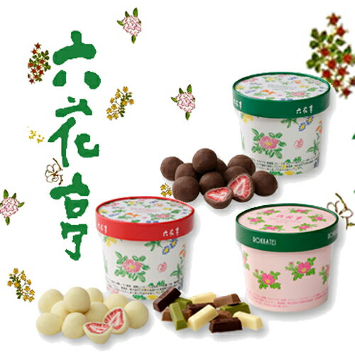 送料込 六花亭 ボックスチョコレート セット北海道 苺ドライフルーツ ストロベリーチョコ ミルク&ホワイト&ベビーミックス