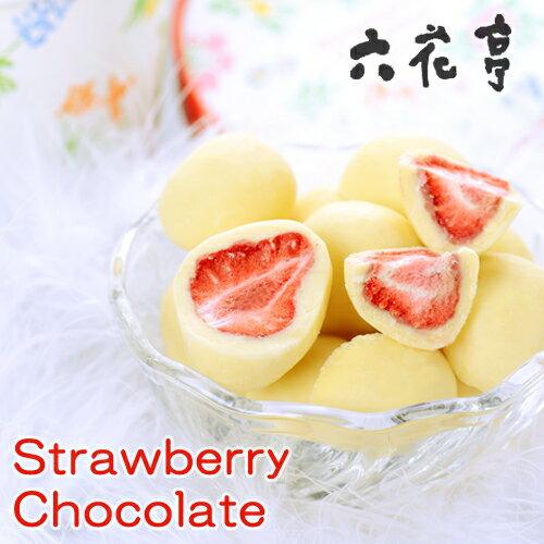 六花亭 ストロベリーチョコ ホワイト北海道お土産 お返し 友人 お取り寄せ 贈り物 いちご ドライフルーツ チョコレート