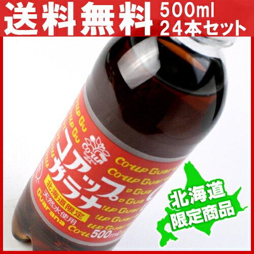 【割引送料込】【北海道限定】コアップガラナ 1ケース(500mlペットボトル×24本)【同梱不可商品】