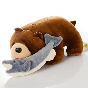 木彫り熊のようなデザインのかわいいぬいぐるみ