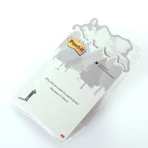 北海道限定 Post-it バードウォッチングデザイン ホワイト【STICKY NOTE 3M ポストイット ノート ご当地文房具 北海道ステーショナリー 付箋 ふせん】