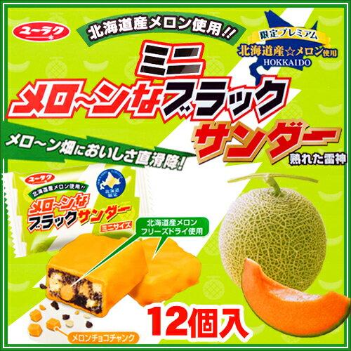 【ユーラク製菓】メローンなミニブラックサンダー 12袋入【北海道限定 夏季期間限定】