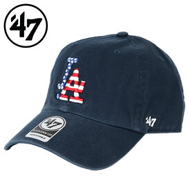 47bland キャップ ロサンゼルス・ドジャース アメリカ国旗 星条旗 クリーンナップ CLEAN UP LOS ANGELES DODGERS MEN'S LADIES CAP ローキャップ メンズ レディース 帽子 フォーティーセブン 47ブランド