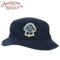 アメリカンニードルバケットハットパブスト・ブルーリボンサファリハットメンズレディースビール帽子AmericanNeedle