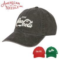 アメリカンニードル缶コーラキャップメンズ帽子AMERICANNEEDLE6パネルローキャップおしゃれコークコカ・コーラロゴ