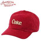 アメリカンニードルCOKEコーデュロイキャップメンズ帽子AMERICANNEEDLE6パネルローキャップおしゃれコークコカ・コーラロゴ