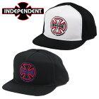 IndependentインディペンデントスナップバックキャップHOLLOWCROSSメンズ帽子スケーター