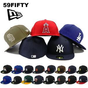 ニューエラ キャップ 59FIFTY NEW ERA MEN'S オーセンティック 公式モデル ヤンキース ドジャース エンゼルス インディアンス ワフー酋長 パドレス メジャーリーグ キャップ LA NY ベースボールキャ