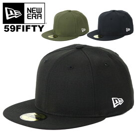 ニューエラ キャップ 無地 59FIFTY New Era Men's Blank Cap メンズ 帽子 ブラック 黒 ネイビー カーキ オリーブ 人気 ブランド シンプル