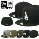 SALE!ニューエラ キャップ ドジャース 59FIFTY NEW ERA MEN'S ロサンゼルス・ドジャース ブラック グレー ツートン ニューエラ ドジャース キャップ メンズ 帽子 ブランド ベースボールキャップ NEWERA メジャーリーグ キャップ 大きいサイズ ビッグサイズ 野球帽 LA