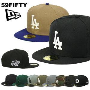 ニューエラ キャップ ドジャース 59FIFTY NEW ERA MEN'S LA ロサンゼルス・ドジャース ブラックブラック メンズ 帽子 ブランド ベースボールキャップ NEWERA メジャーリーグ キャップ 大きいサイズ