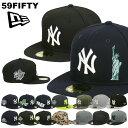 ニューエラ キャップ ヤンキース 59FIFTY NEW ERA MEN'S ブラック グリーン グレー レッド NY メジャーリーグ ベースボールキャップ メンズ 帽子 ブランド 大きいサイズ ニューヨーク・ヤンキース NEWERA ツートン