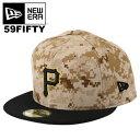 SALE!ニューエラ キャップ 59FIFTY New Era ピッツバーグ・パイレーツ MLB メンズ 帽子 ニューエラ パイレーツ デジカモ 迷彩 オーセンティック メジャーリーグ ベースボールキャップ NEWERA 大きいサイズ ビッグサイズ