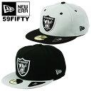 ニューエラ キャップ レイダース 59FIFTY New Era NFL メンズ 帽子 Oakland Raiders オークランド・レイダース キャップ アメフト ベースボールキャップ 大きいサイズ ビッグサイズ