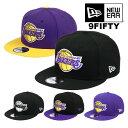 ニューエラ キャップ 9FIFTY ロサンゼルス・レイカーズ New Era Los Angeles Lakers NBA MEN'S CAP メンズ 帽子 スナップバックキャップ ベースボールキャップ