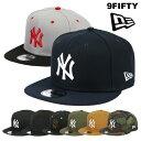 ニューエラ キャップ ヤンキース 9FIFTY New Era Cap Men's スナップバック メンズ 帽子 NY ベースボールキャップ 黒 ブラック ネイビー メジャーリーグ 人気 ブランド ストリートファッション