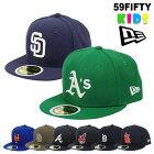 ニューエラキャップキッズ59FIFTYヤンキースLAドジャースエンゼルス子供用男の子女の子帽子NEWERAベースボールキャップメジャーリーグMLB野球帽クリスマスプレゼント