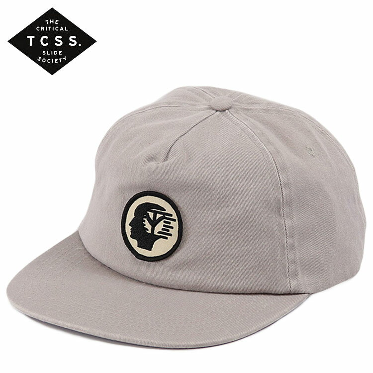 TCSS キャップ スナップバック POP-AGANDA CAP 帽子 メンズ レディース ユニセックス ロゴ T.C.S.S. ティーシーエスエス グレー サーフブランド