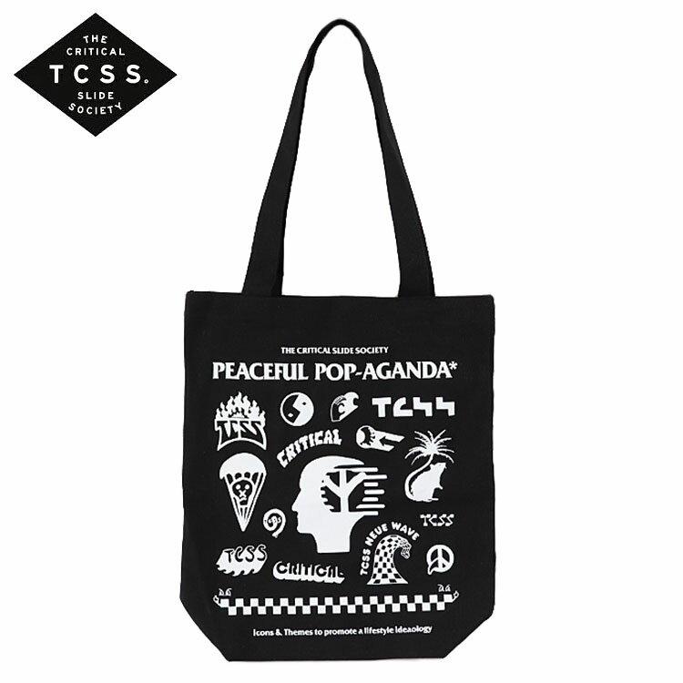 TCSS トートバッグ POP-AGANDA TOTE BAG カバン エコバッグ メンズ レディース ユニセックス ロゴ T.C.S.S. ティーシーエスエス サーフブランド