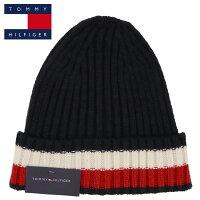トミーヒルフィガーニット帽ニットキャップフラッグロゴラインメンズレディースTOMMYHILFIGERブランド