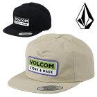 VOLCOMボルコムスナップバックキャップ帽子メンズTRANSPORTERCAPサーフブランドサーフィンスケータースケボースノーボードスノボ