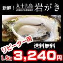 たっぷり1.5kg!《九十九島産》(生)岩牡蠣160g〜200g(6個前後)/付属品なし!【送料無料】御中元にも最適!