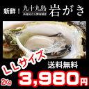 ジャンボLLサイズ2Kg!《九十九島産》(生)岩牡蠣300g〜350g(6個前後)/付属品なし!【送料無料】御中元にも最適!
