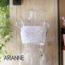 アリアンヌ ARIANNE piikabuシリーズミニキャミ ブラカバーレース ホワイト S、M、L