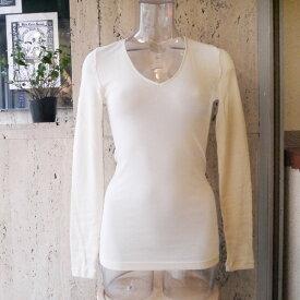 【送料無料】[定番]ハンロ HANRO WOOLEN SILKシリーズ長袖トップス 長袖インナー ロングTシャツ    冷え防止 防寒 寒さ対策 保温 暖か素材    天然素材 シルクウール