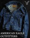 【送料無料】アメリカンイーグル AMERICAN EAGLE OUTFITTERS【正規品】【メンズ】Denim Jacket ストレッチ ジージャン デニムジャケット/Blue【あす楽対応】