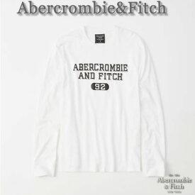 【送料無料】アバクロ Abercrombie&Fitch【正規品】【メンズ】ロゴプリント 長袖Tシャツ ロンT/White【あす楽対応】