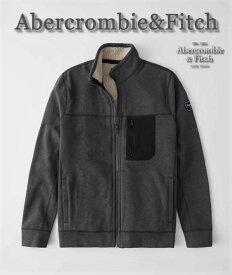 【送料無料】アバクロ Abercrombie&Fitch アバクロンビー&フィッチ【正規品】【メンズ】裏ボア フリース ジャケット/Dark Grey【あす楽対応】
