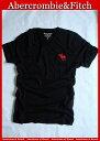 【送料無料】アバクロ Abercrombie&Fitch【正規品】【メンズ】ビッグムース刺繍 VネックTシャツ/Black